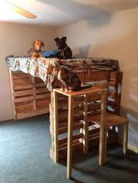 Pallet Bunk Beds Diy Pallet Bunk Bed Search Kiddos Stuff Pinterest