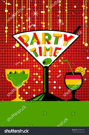 Cocktail Party Poster Background Night Club Stock Vector 594896441