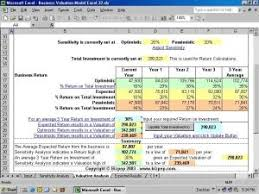 Business Valuation Report Template Worksheet by The Version Of Business Valuation Model Excel Free