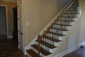 exterior interior staircase design with glass stair railing and