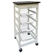 chef vida 4 tier kitchen trolley wood white amazon co uk