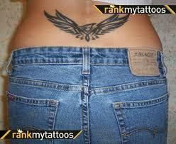 tribal eagle tattoo for lower back tattoos book 65 000 tattoos