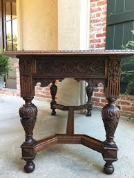 Sofa Table Oak by Antique English Carved Oak Sofa Table Renaissance Revival Altar
