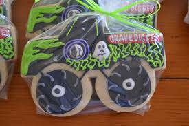 grave digger monster truck birthday party supplies jackandy cookies monster truck cookie favor grave digger