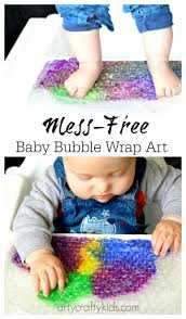 baby bubble wrap art sensory baby u0026 toddler activity sensory