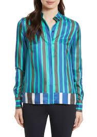 diane von furstenberg diane von furstenberg stripe silk shirt