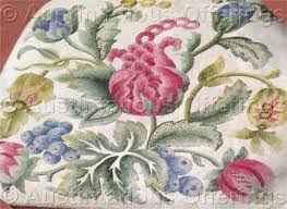 williams jacobean floral crewel embroidery kit fenwick seat