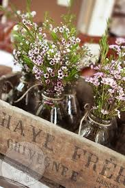 rustic wood planter box 8 milk bottles vase reclaimed wood