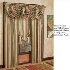 Tropical Curtain Panels Interiors Fabulous Tropical Curtains And Drapes Waterfall Door