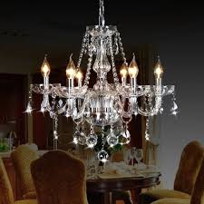 Chandeliers For Dining Room Amazon Com Crystop Classic Vintage Crystal Candle Chandeliers