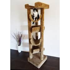 Cat Furniture New Cat Condos 72 In Premiere Solid Wood Skyscraper Cat Tree