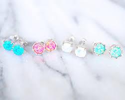 opal stud earrings blue wildfire opal stud earrings vivamacity
