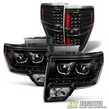 2012 ford f150 tail lights blk 2009 2014 ford f150 smd led halo headlights led tail lights