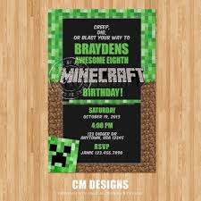 minecraft birthday invitations minecraft birthday invitation minecraft birthday invitation for