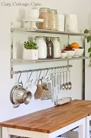Shelving Ideas For Kitchen Kitchen Kitchen Shelves Ikea Going To Get A Long Bar Like One