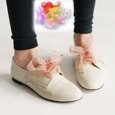 ribbon shoelaces 80cm 31 5 inch children kids shoelaces flat satin ribbon shoe