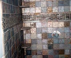 Bathroom Slate Tile Ideas Metallic Slate Bathrooms Pinterest Slate Rust And Slate