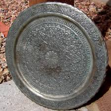 engraved tray middle eastern hammered tray plaque islamic engraved