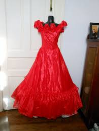 vintage 80s prom dress red ruched southern bell off shoulder prom
