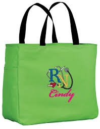 essential tote bag personalized embroidered