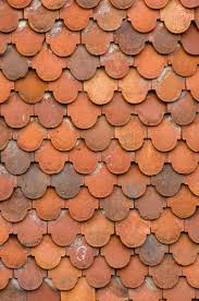 Roof Tiles Types Roof Tiles Over Garden In Southwest England Showing The Varying
