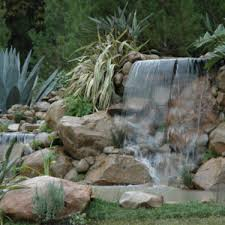 Backyard Nature Products Backyard Stream With Blue Landscape Glass Bourget Bros