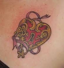 Locket Tattoo Ideas Key And Heart Locket Color Tattoos Pinterest Heart Locket