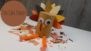 thanksgiving craft tin can turkey easy diy