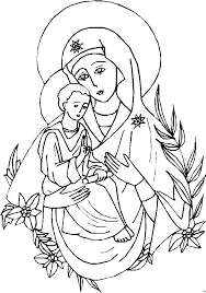 mary colouring pages