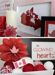 White Christmas Decorations Canada by 50 Red And White Home Decorating Ideas For Canada Day