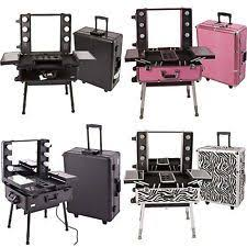 rolling makeup case with lighted mirror pro studio makeup case with light i would so want this makeup