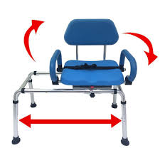 carousel sliding transfer bench with swivel seat free online