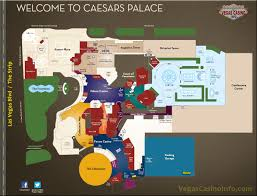 Las Vegas Strip Casino Map by Caesars Property Map Casino And Hotel Layout