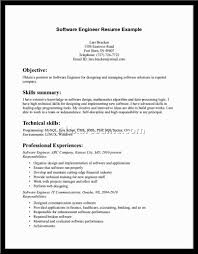 Resume Objective For Experienced Software Developer Resume Objective Sales