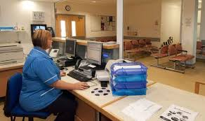 check in desk sign sign yourself in at hospital with nhs planned self service kiosks