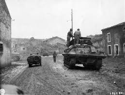 jeep tank military m10 wolverine tank destroyer and jeep enter fresnes france 1944