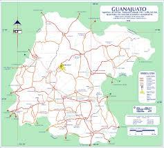 Mexico Road Map guanajuato mexico road map world atlas size 1500x1350