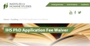 phd application fee waiver armacad