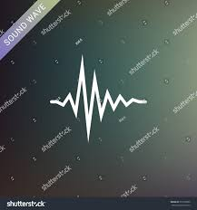 sound wave music flat vector icon stock vector 571060909