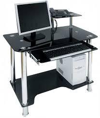Office Computer Desk Furniture Black Glass Computer Desks For Home
