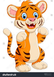 cartoon cute tiger stock illustration 349359677 shutterstock