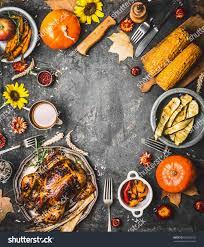 thanksgiving dinner background roasted turkey sauce stock photo