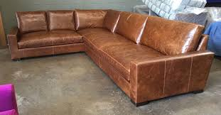 Leather Bench Seat Cushions Custom Braxton L Sectional U2013 145 U2033 X 105 U2033 With Bench Seats In