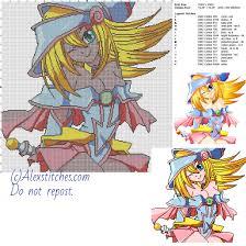 dark magician yu gi oh free cross stitch pattern 200x200 16