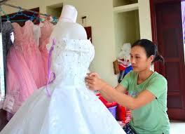 may ao cuoi may áo cưới nghề mới làm giàu cho người dân vùng ven biển nam định