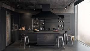 Black Kitchen Island With Stools Kitchen Cool Black Kitchen Decor With Modern Black Kitchen
