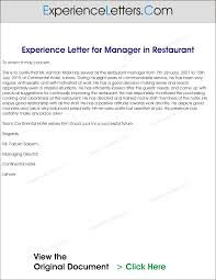 Assistant Restaurant Manager Duties And Responsibilities Experience Letter For Restaurant Manager