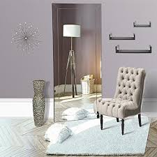 mirrored home decor naomi home mirrored bevel floor mirror home decor