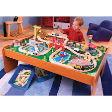 kidkraft train table compatible with thomas 100 pc kidkraft ride around town train set with table 171411