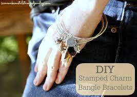 bangles charm bracelet images Diy stamped charm bangle bracelets i can make metal stamped jewelry png